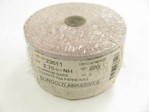 Sungold 23611 2 3 4 X 40 Yards Psa Sandpaper Roll 220 Grit