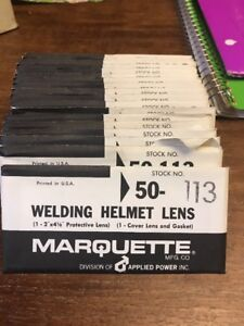 20 Nos Marquette Welding Helmet Lens 50 113 Clear Glass Applied Power