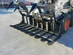 2018 Hd 84 Skid Steer Root Grapple Twin Cylinder universal Fit