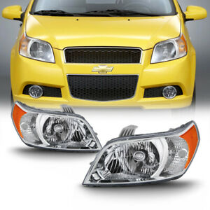 For 07 11 Chevy Aveo 5 2009 Pontiac G3 Wave Factory Style Replacement Headlight