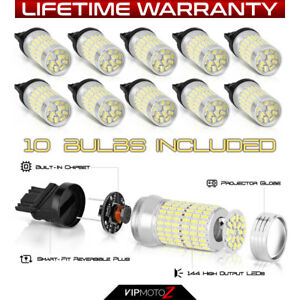 for Backup reverse tail Lamp 10x Pure White 3156 3456 T25 Smd Led Light Bulbs