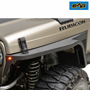 Eag 97 06 Jeep Wrangler Tj Front Fender With Flare And Led Eagle Lights