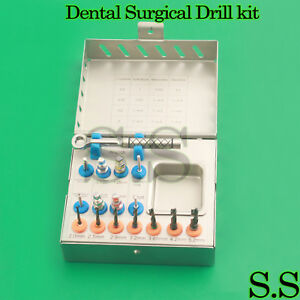 Dental Implant Tissue Punch trephine Drills 15 Pcs Kit Surgical Surgery