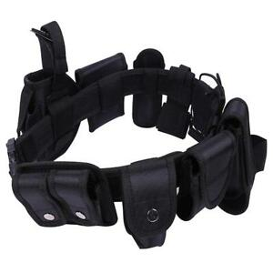 New Police Security Guard Modular Enforcement Equipment Duty Belt Tactical 600d