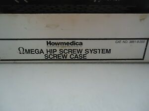 Stryker howmedica Omega Hip Screw System Screw Case 3861 9 200