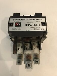 Cutler Hammer C10nf3 Series B1 Nema Size 4 Motor Starter Qty 1 Might Be New