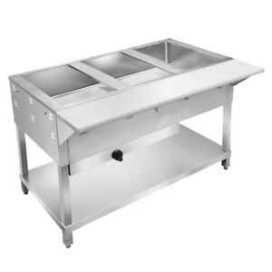 Klinger s All Stainless Steel 2 Well Gas Nat Or Lp Steam Table Wet dry Kti Wb2h
