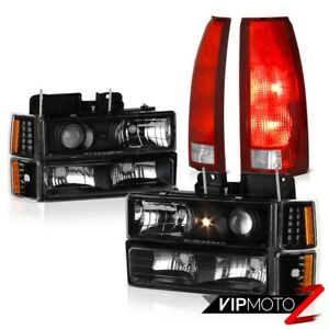 94 95 96 97 98 Silverado 1500 Red Taillamps Parking Lights Projector Headlights