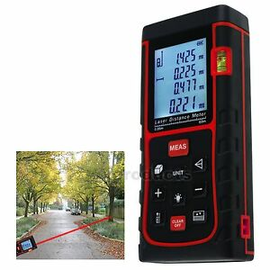 60m Laser Meter Distance Area Volume Pythagorean 100 Records Measure Digital