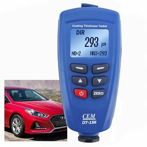 Paint Coating Thickness Meter 1250um 49 2mils F Nf Probe Sensor W 400 Memory