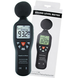 High Accuracy Compact Professional Sound Level Meter Measuring Range 30db 130db