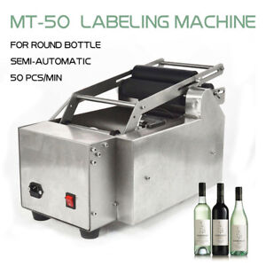 Top Mt 50 Semi automatic Round Bottle Coding Labeler Labeling Machine Us Stock