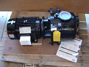 new Dayton 7 5 Hp Sewage trash Centrifugal Pump 3 Phase 208 230 460 12n807