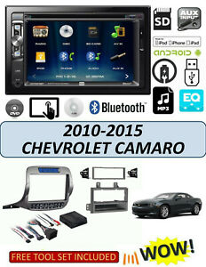 Chevrolet Camaro 2010 2015 Double Din Car Stereo Kit Dvd Bluetooth Touchscreen