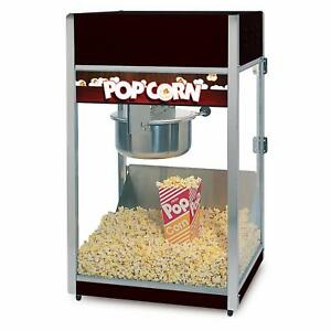 Global Solutions By Nemco 8oz Tempered Glass Popcorn Popper W Removeable Kettle