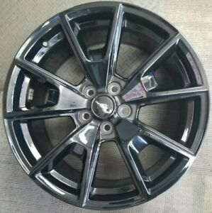 19 Ford Mustang Gt Gloss Black Oem Alloy Wheels Rims 19x8 1 2 2015