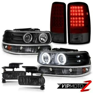 Ring Headlights Black Signal Smokey Red Tail Lights Tint Fog 2000 2006 Tahoe Ls