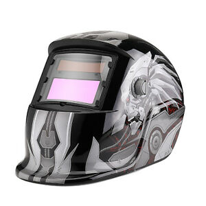 Auto Darkening Welding Helmet Solar Powered Mask Arc Tig Mig Lens Face Cover