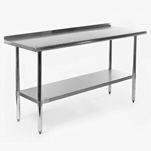 New Nsf Stainless Steel Commercial Kitchen Prep Work Table W Backsplash 60