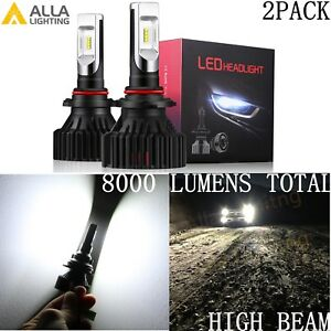 Alla Lighting Um 2018 8000lm 9012 Hir2 Super White High Beam Led Headlight Bulbs