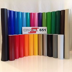 12 Oracal 651 Vinyl craft Hobby sign Maker 12 Rolls 5 Ea By Precision62