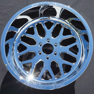 22x12 Real Chrome Fuel Off road Forged Ff19 Wheels Rims Ford Raptor F150 6x135