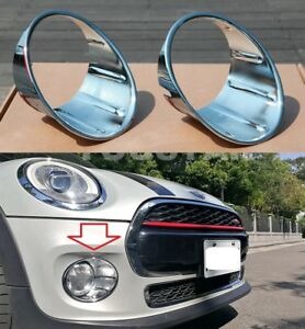 Us Stock X2 Chrome Fog Light Trims For 3rd Gen Mini Cooper F55 F56 F57 14 On