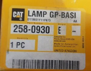 New Oem Caterpillar Lamp gp basi 2580930 258 0930 Made In Uk