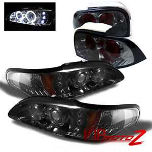94 96 Ford Mustang V8 Gt Smoke 1pc Headlight Corner Lamp Altezza Tail Light L R
