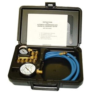Automatic Transmission And Engine Oil Pressure Tester With Two Gages In Molded P