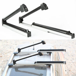 2pcs Car Roof Rack Snow Board Ski Rack Carrier Slide Cargo Luggage With Lock