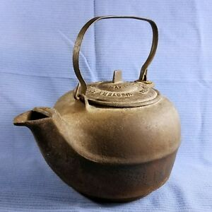 C 1866 1870 S Cast Iron Kettle Great Western Foundry Stove Co Leavenworth Ks