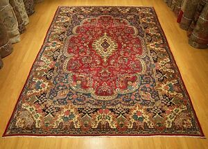 8 X 12 Handmade High Quality Antique 1930s Royal Persian Oriental Fine Wool Rug