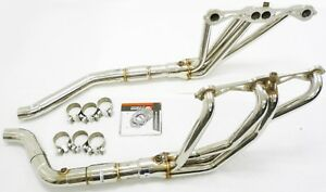 Obx Catted Exhaust Long Tube Header For 1992 To 1996 Chevy Corvette C4 Lt1 Lt4
