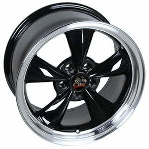 Black 17 Rim W Machined Lip 3448 Mustang Bullitt Style Wheel 17x8