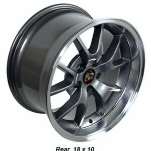 Anthracite 18 Rim W machined Lip Mustang Fr500 Style Wheel 18x10