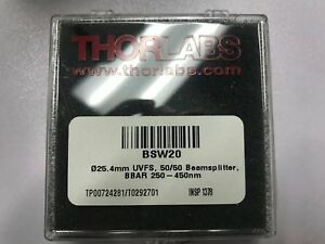 Thorlabs Bsw20 50 50 Beamsplitter Bbar 250 400nm