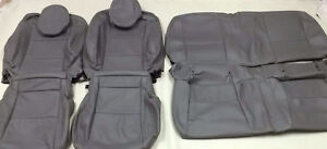 2011 2015 Chevrolet Camaro Convertible Gray Leather Upholstery Seat Cover Set