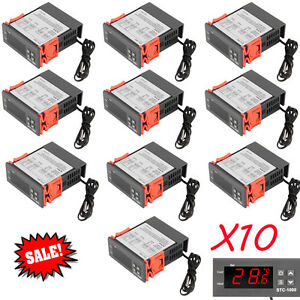 10x Universal Stc 1000 Digital Temperature Controller Thermostat Sensor 110v Ex