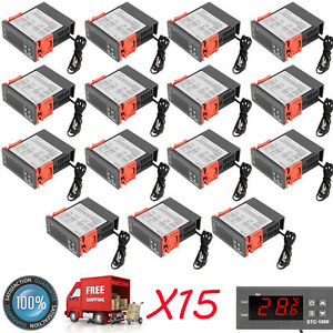 15x Universal Stc 1000 Digital Temperature Controller Thermostat Sensor 110v Ex