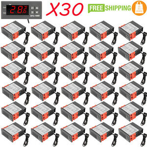 30 X 10a 110v Digital Temperature Controller Sensor Thermostat Control Relay Exc