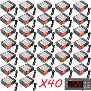 40 X 10a 110v Digital Temperature Controller Sensor Thermostat Control Relay Exc