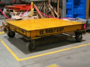 industrial Caster Cart With Metal Wheels used Heavy Duty platform