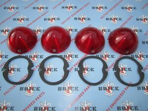 1954 Buick Tail Light Lenses Guide Oem 5945026 Show Quality Set Of 4