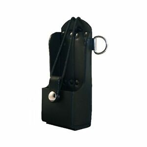 Boston Leather Radio Holder Plain Black