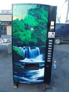 Dixie Narco 501e Can Bottle Beverage Vending Machine Generic Cascade Waterfall
