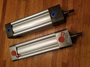 Two 2 Rexroth Pneumatic Air Cylinders 2 X 5 200 Psi Lot Of 2