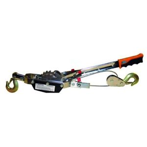 Hand Power Puller Come a long 9 62 Lbs Breaking Strength 4400 Lbs 10 Cable