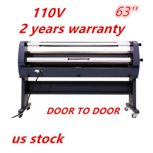 Us Stock Ving 110v 63 Luxury Heat Assisted Full Auto Wide Format Cold Laminator