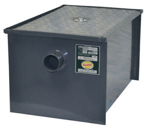 Gt 100 Grease Trap Interceptor 100 Lbs Oil Capcty 50 Gpm Rate Flow Pdi Certified
